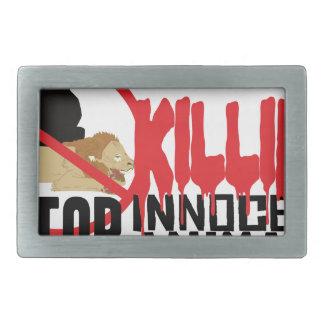 停止殺害動物 長方形ベルトバックル
