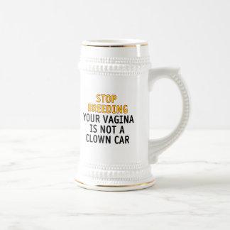 停止育成。 あなたの膣はピエロ車ではないです ビールジョッキ