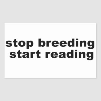 停止育成、開始の読書 長方形シール