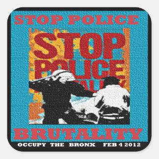 停止警察による残酷な行為は、ブロンクスのフライヤ2012年を占めます スクエアシール