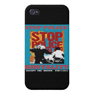 停止警察による残酷な行為は、ブロンクスのフライヤ2012年を占めます iPhone 4/4Sケース