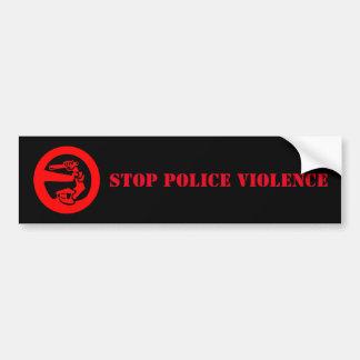 停止警察の暴力 バンパーステッカー