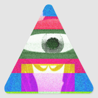停止!!! 三角形シール