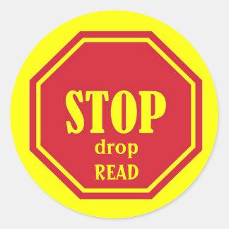 停止、低下、読書 ラウンドシール