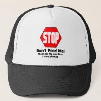 停止!  私を食べ物を与えないで下さい!  私はアレルギーを有します キャップ