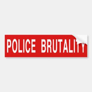 [停止]警察による残酷な行為(大きい) バンパーステッカー