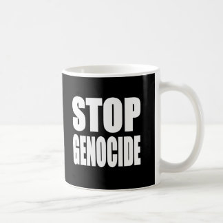 停止 集団虐殺 抗議 メッセージ コーヒーマグ