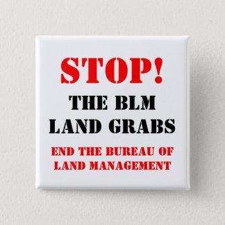 停止BLM土地はボタンPinのバッジをつかみます 5.1cm 正方形バッジ