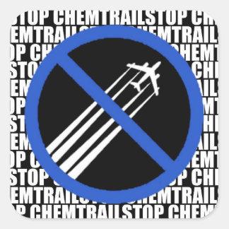 停止Chemtrails! スクエアシール