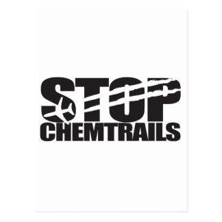 停止Chemtrails ポストカード