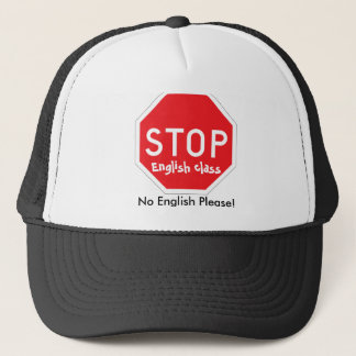 停止eniglishクラスの帽子 キャップ