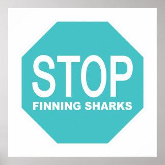 停止Finningの鮫の印 ポスター