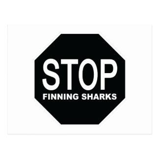 停止Finningの鮫の印 ポストカード