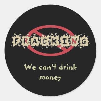 停止Frackingのステッカー ラウンドシール