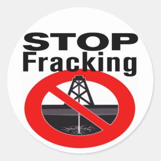 停止Fracking ラウンドシール