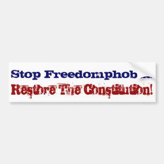 停止Freedomphobia! バンパーステッカー