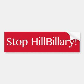 停止HillBillary バンパーステッカー
