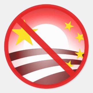 停止Obammunist社会主義 ラウンドシール