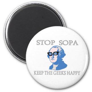 停止SOPAはギークを幸せ保ちます マグネット