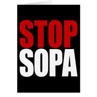 停止SOPAカード カード