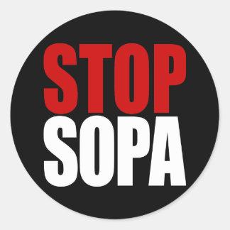 停止SOPAステッカー ラウンドシール