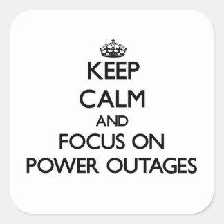 停電の平静そして焦点を保って下さい スクエアシール
