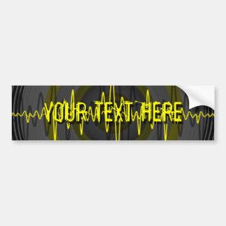 健全で黄色い暗闇「あなたの文字」のバンパーステッカー バンパーステッカー