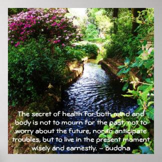 健康および健康についての美しい仏教の引用文 ポスター