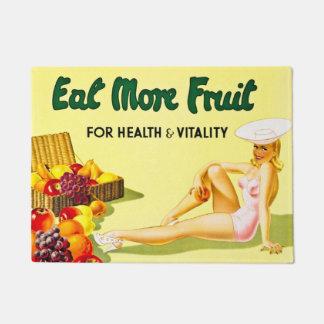 健康および活力のヴィンテージのためのより多くのフルーツを食べて下さい ドアマット