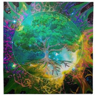 健康および活力の生命の樹 ナプキンクロス