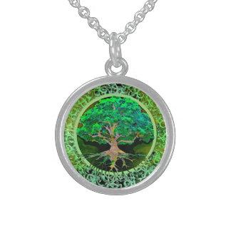 健康および繁栄生命の樹 スターリングシルバーネックレス