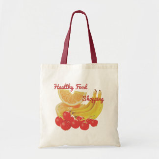健康でカラフルなフルーツ: オレンジ、バナナ、果実 トートバッグ