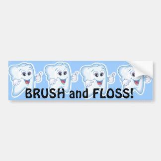 健康で幸せな歯 バンパーステッカー