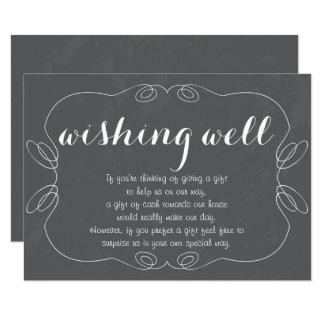健康なカードを望むロマンチックな原稿の黒板 カード