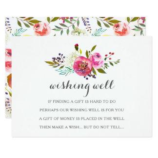 健康なカードを望むロマンチックな水彩画の花柄 カード