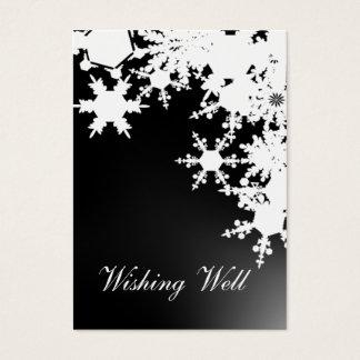 健康なカードを望む黒い雪片 名刺