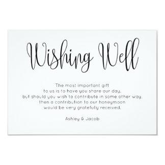健康なシンプルを望むモダン。 原稿の結婚式の挿入物 カード