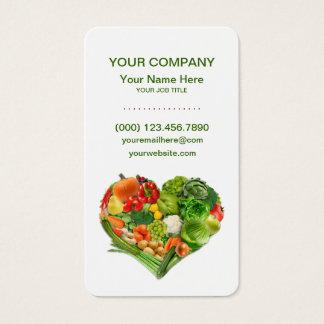 健康な果物と野菜のハートビジネス 名刺