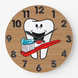 健康な歯 ラージ壁時計