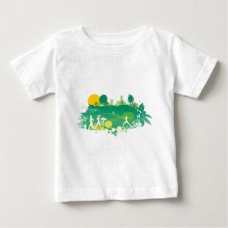 健康な生きている場面 ベビーTシャツ