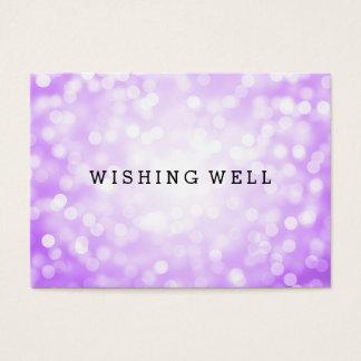 健康な紫色のグリッターライトの希望 名刺