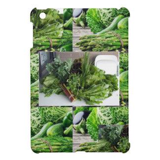 健康な緑葉菜サラダシェフの料理 iPad MINIケース
