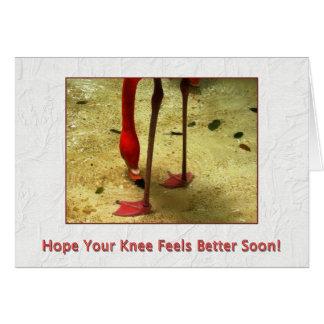 健康な膝の外科をすぐに得て下さい カード