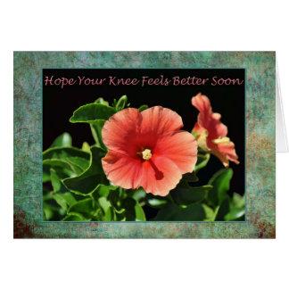 健康な膝の外科花柄をすぐに得て下さい カード
