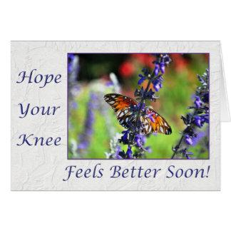 健康な膝の蝶花柄をすぐに得て下さい カード
