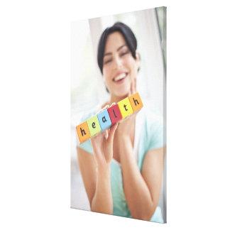 健康な若い女性、概念的なイメージ キャンバスプリント