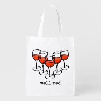 健康な赤ワインガラス エコバッグ