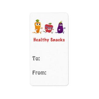 健康な軽食 ラベル