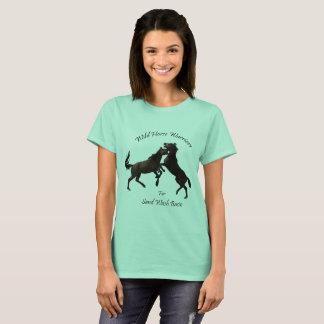 健康な野生の馬のための健康な範囲 Tシャツ