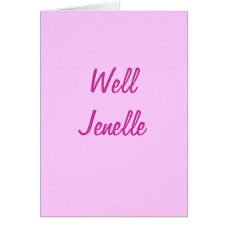 健康なJenelle カード